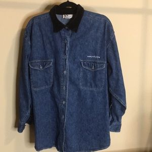New York Jeans vintage denim shirt-jac Large